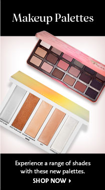 Makeup Palettes Experience a range of shades with these new palettes. SHOP NOW >