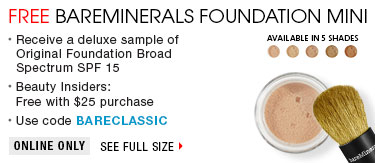 Free Bareminerals foundation mini