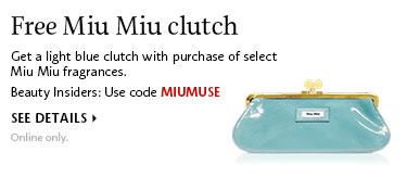 Free Miu Miu clutch | Use code MIUMUSE