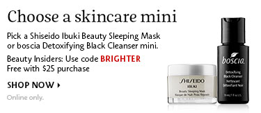 Choose a skincare mini | Use code BRIGHTER