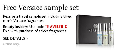 Free Versace sample set | Use code TRAVELTRIO