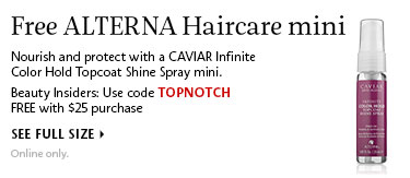 Free Alterna Haircare mini | Use code TOPNOTCH