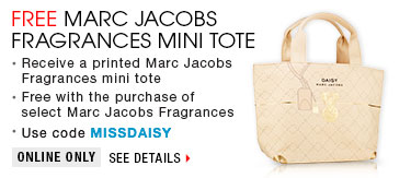 Free Marc Jacobs Fragrances Mini Tote