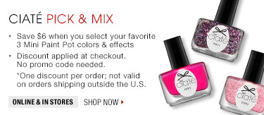 Save $6 when you select your favorite 3 mini Paint Pot