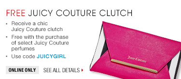 free juicy couture clutch. Use code JUICYGIRL